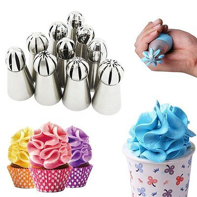 7PCS Russian Pastry Baking Tool Flower Cake Decorating Icing Piping Nozzles Tips