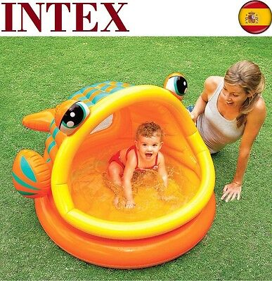 Piscina hinchable para niños INTEX con Sombrilla Pez perezoso Playa