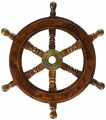"SAILORS SPECIAL 12"" Pirate Ship Captains Wheel Nautical Decor Vintage Boat"