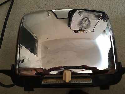 Vintage Sunbeam Chrome Toaster Radiant Shade Control #AT-W Working Condition