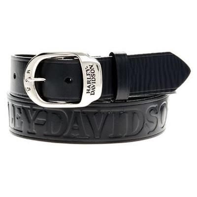 Cinta Cintura In Pelle Con Fibbia Harley Davidson Genuine Belt Leather Biker H-D