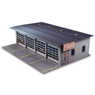 1:64 Slot Car HO Scale Photo Real 4 Stall Pit Race Garage Diorama Model Scenery