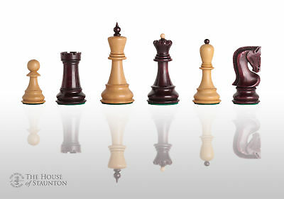 """The Zagreb '59 Chess Set - Pieces Only - 3.875"""" King - Purpleheart"""