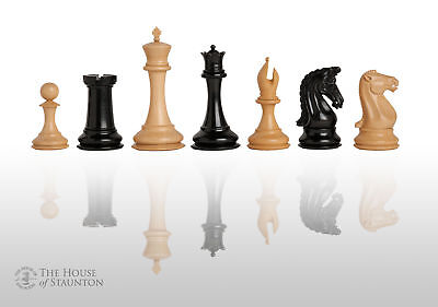 "The Supreme Collector Luxury Chess Set - Pieces Only - 4.4"" King - Genuine Ebony"