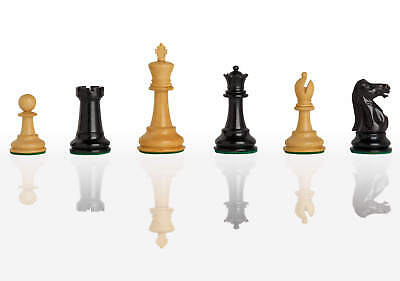 """The Broadbent Luxury Chess Set - Pieces Only - 3.0"""" King - Genuine Ebony"""