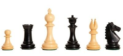 "The Bedford Chess Set - Pieces Only - 3.75"" King - Ebonized Boxwood"