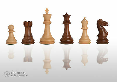 """The Pro-Line Chess Set - Pieces Only - 4.0"""" King - Golden Rosewood"""