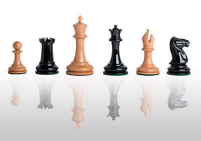"""The Cooke Luxury Chess Set - Pieces Only - 3.625"""" King - Genuine Ebony"""