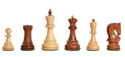 """The Zagreb '59 Chess Set - Pieces Only - 3.875"""" King - Golden Rosewood"""
