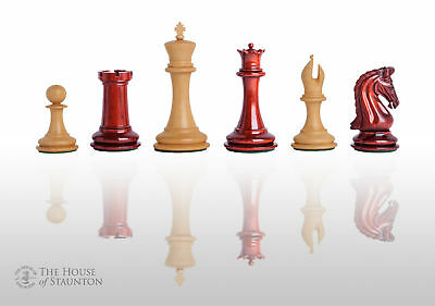 "The Imperial Collector Luxury Chess Set - Pieces Only - 4.0"" King - Blood Rosewo"