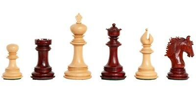 """The Bolzano Luxury Chess Set - Pieces Only - 4.4"""" King - Blood Rosewood"""