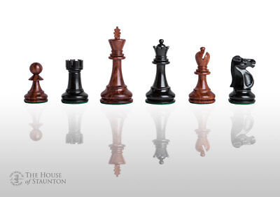 """The Reykjavik Elite Chess Set - Pieces Only - 3.75"""" King - Golden Rosewood & Ebo"""