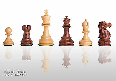"""The Legend Chess Set - Pieces Only 3.75"""" King - Golden Rosewood"""