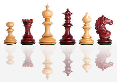 """The Avellino Luxury Chess Set - Pieces Only - 4.4"""" King - Blood Rosewood"""