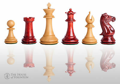 """The Isernia Luxury Chess Set - Pieces Only - 4.4"""" King - Blood Rosewood"""