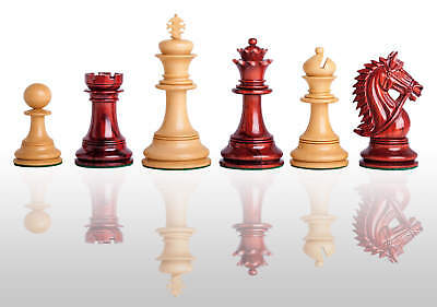 """The Chesterfield Luxury Chess Set - Pieces Only - 4.4"""" King  - Blood Rosewood"""