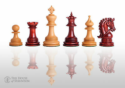 """The Preston Luxury Chess Set - Pieces Only - 4.4"""" King  - Blood Rosewood"""
