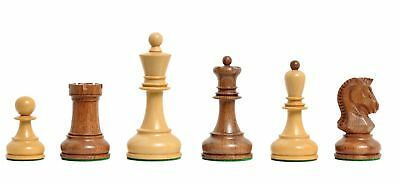 """The Dubrovnik Chess Set - Pieces Only - 3.75"""" King - Golden Rosewood"""