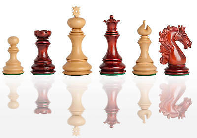 """The Ravenna Luxury Chess Set - Pieces Only - 4.4"""" King - Blood Rosewood"""