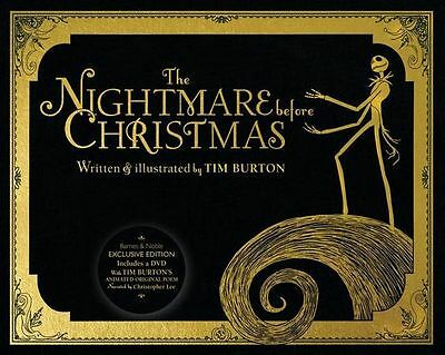 The Nightmare Before Christmas B&n Exclusive Book - With Narrated Dvd Of Poem