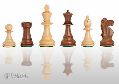 """The French Lardy Chess Set - Pieces Only - 3.75"""" King - Golden Rosewood"""