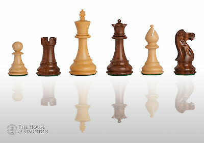 """The Classic Chess Set - Pieces Only - 4.0"""" King - Golden Rosewood"""