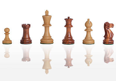 """The Grandmaster Chess Set - Pieces Only - 3.25"""" King - Golden Rosewood"""