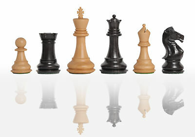 """The Pro-Line Series Chess Set - Pieces Only - 4.0"""" King - Ebonized Boxwood"""