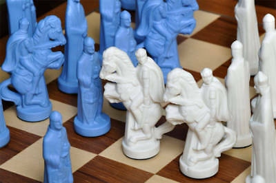 """The Camelot Luxury Porcelain Chess Set - Pieces Only - 5.0"""" King"""