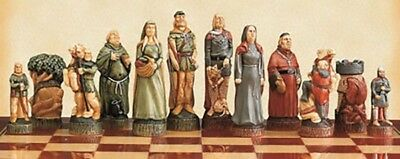 The Robin Hood Hand Painted Chess Pieces