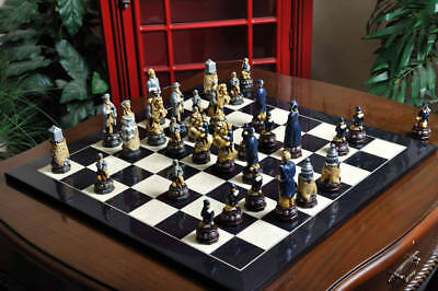 The American Civil War Hand Painted Chess Pieces