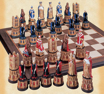 The Canterbury Cathedral Hand Painted Chess Pieces