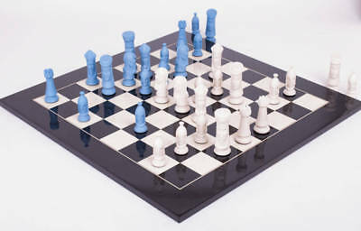 """Knights Luxury Porcelain Chess Set - Pieces Only - 3.75"""" King"""