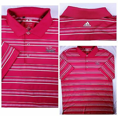 Adidas Puremotion Mens Golf Polo Shirt Size L Large Short Sleeve Red Good Cond