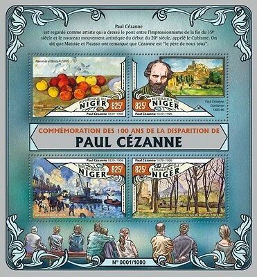 Z08 Imperforated NIG16119a NIGER 2016 Paul Cezanne MNH
