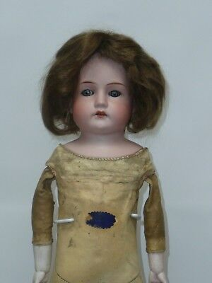 "19.5"" Antique German Bisque Doll w/Blue Stationary Eyes"