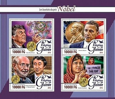 Z08 IMPERFORATED GU16219a GUINEA (Guinée) 2016 The Nobel Laureates MNH