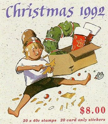 1992 CHRISTMAS AUSTRALIAN STAMP BOOKLET 20 x 40c STAMPS MUH