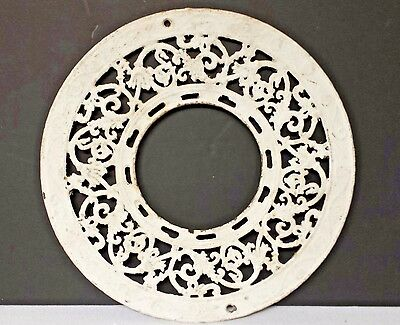Antique Architectural Salvage Heater Vent Flue Cover Round Cast Iron Ornate