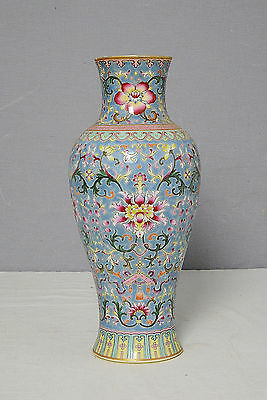 Chinese  Famille  Rose  Porcelain  Vase  With  Mark     M1772