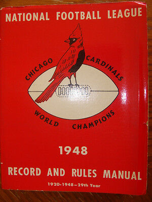1948 vintage NFL Manual, RARE CARDINALS antique football guide priceless history