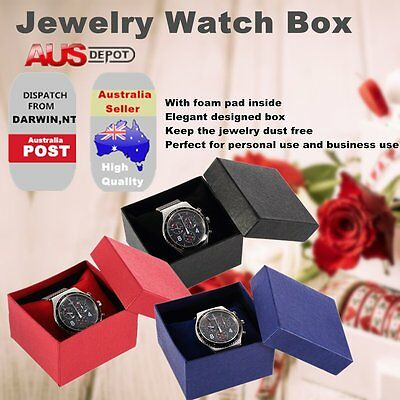 Present Gift Boxes Case For Bangle Jewelry Ring Earrings Wrist Watch Box DY