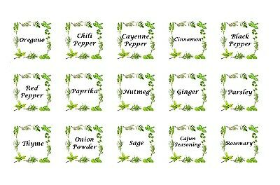 30 Spices Stickers printed on Square Stickers Buy 3 get 1 Free (sp9)