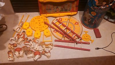 Vintage Fisher Price wooden Circus Lot animals pieces 1963 1964 wood
