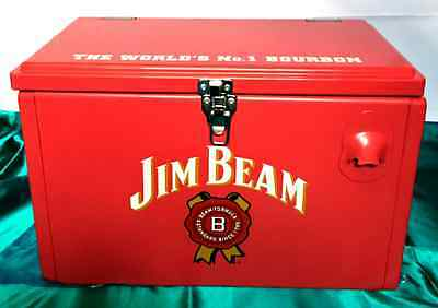 Jim Beam Limited Edition Retro Hard Cooler with Built in Bottle Opener