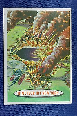 1957 Topps Target: Moon #24 If Meteors Hit New York (Salmon back) - VG Condition