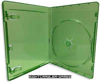 (1) XBox One Translucent Green REPLACEMENT Empty Game Case  # NEW #
