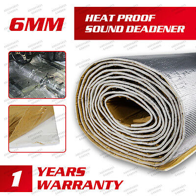 1Sqft 236mil Noise Heat Proof Auto Sound Deadener Mat For Exhaust pipe tube