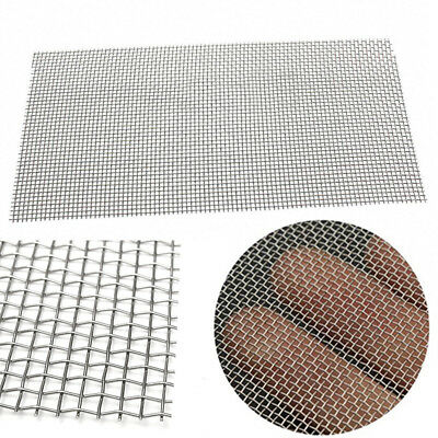 Stainless Steel 5/8/20/30/40 Mesh Woven Cloth Screen Wire Filter Sheet 6x12''