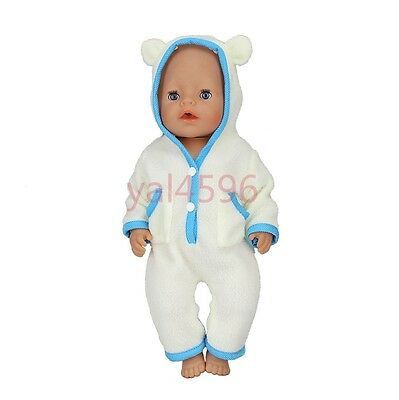 blue jumpsuit Doll Clothes Wearfor 43cm Baby Born zapf (only sell clothes )